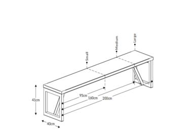 Block Wood Bench/Table