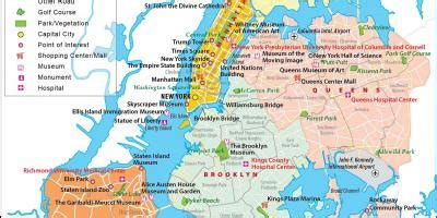 Map of NYC - Free map of NYC (New York - USA)