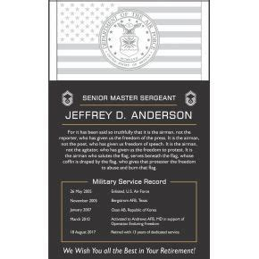 Military Retirement Plaque and Poem Samples | DIY Awards