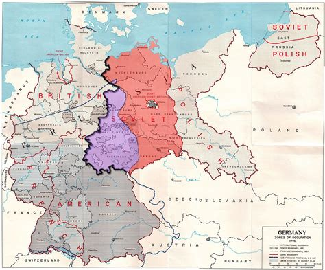 Allied Occupation Zones in Germany 1945 (avec images