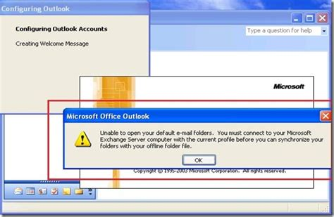 Can't Connect Outlook 2003 To Exchange 2010