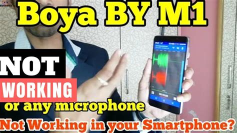 Mobile Trick | Boya BY M1 Microphone is not working in