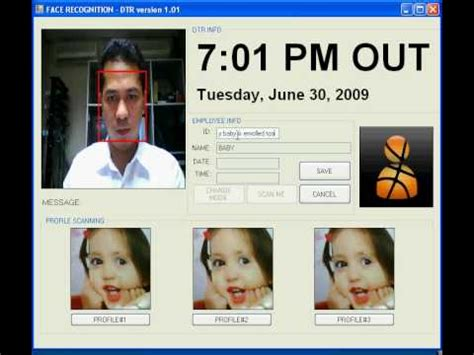 Face recognition use in Daily time recording (Biometrics