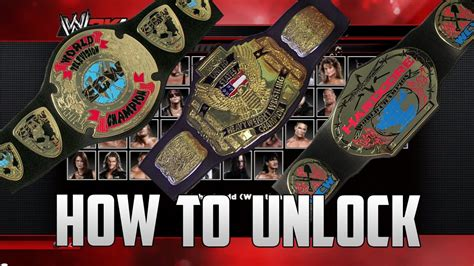 WWE 2K14 - How To Unlock : ECW TV TITLE, WCW US TITLE AND