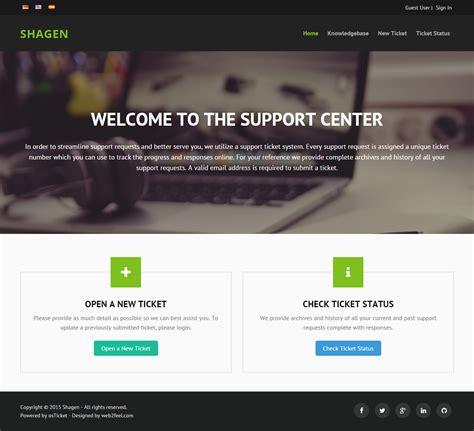 Responsive Bootstrap custom theme for osTicket - Mods and