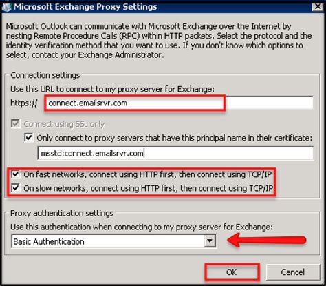 Manually configure Outlook 2010 for email hosted on