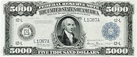 five thousand dollar bill US 1918 - /money/US_Currency/US