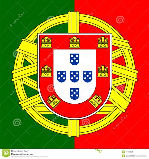 Portugal coat of arms stock vector