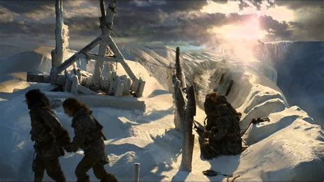Jon Snow & Ygritte reach the top of the Wall and kiss